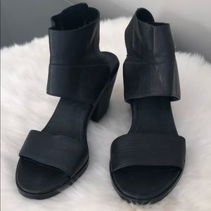 Eileen Fisher leather sandals.